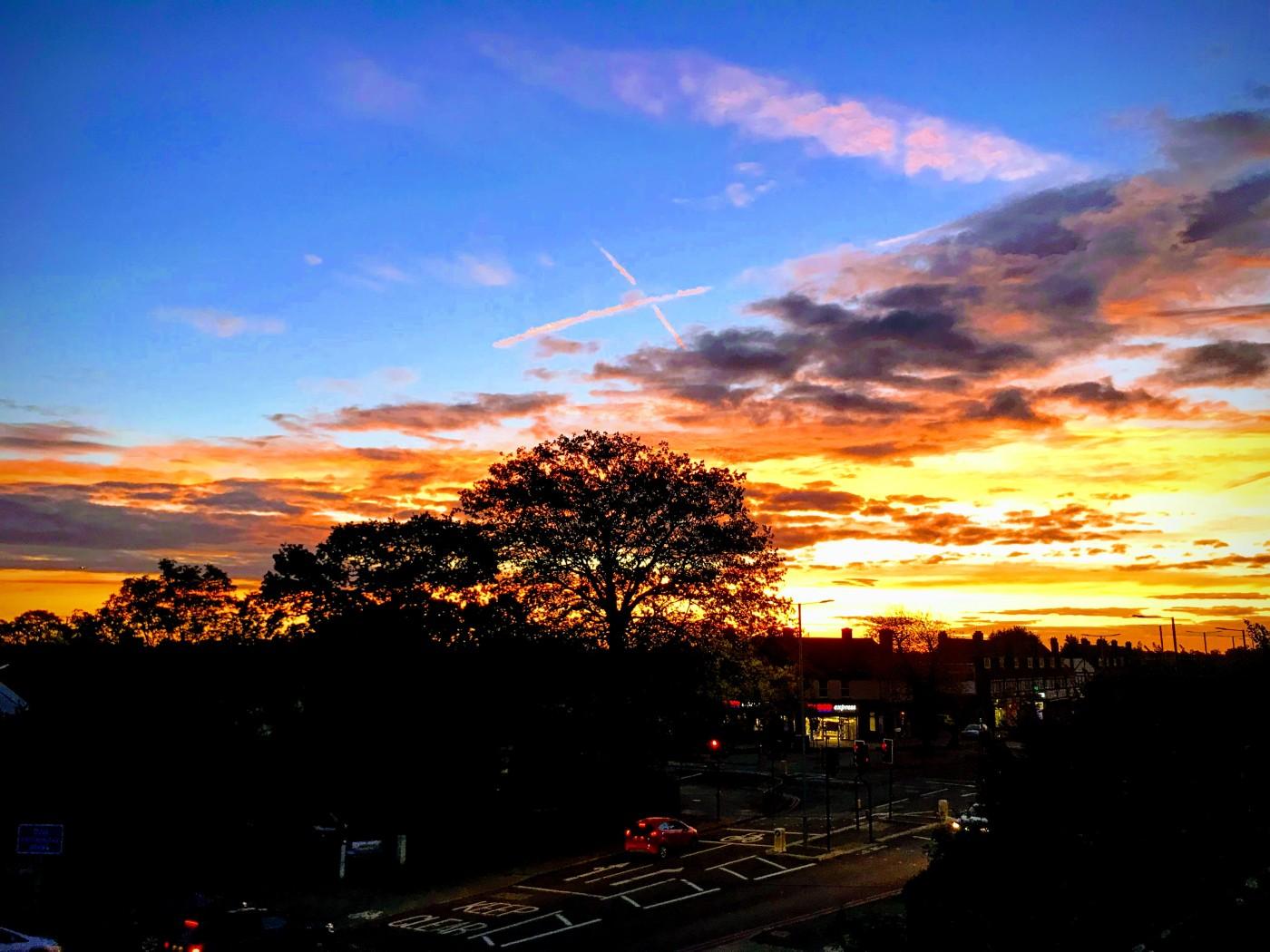 Sunset at Feltham!