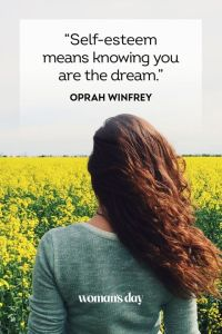 Self-Esteem means Knowing You're the Dream!